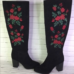 Libby Edelman 8.5 Sullivan Floral Knee High Boots